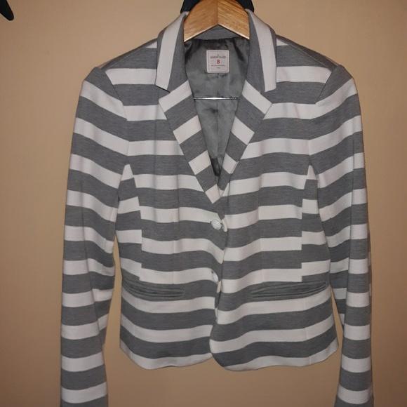 GAP Jackets & Blazers - Gap Academy blazer. Gray & white stripes 8